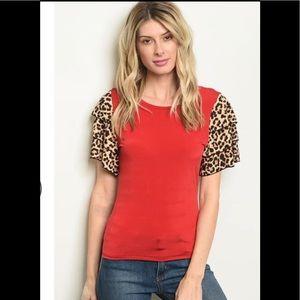Red & Leopard Shirt